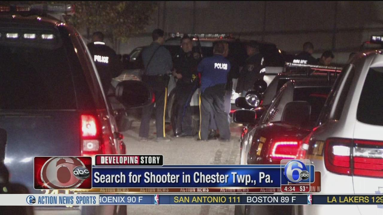 VIDEO: Shots fired at police in Delco, gunman sought