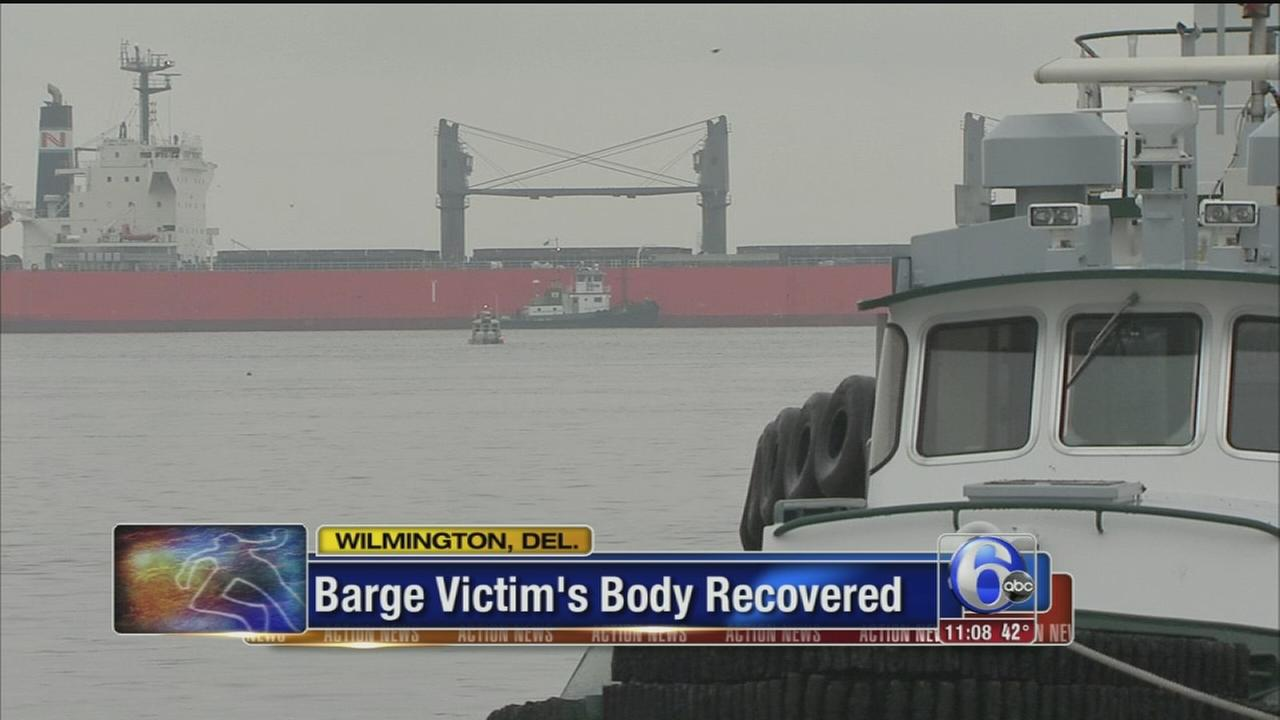 VIDEO: Official: Body pulled from capsized barge in Christina River