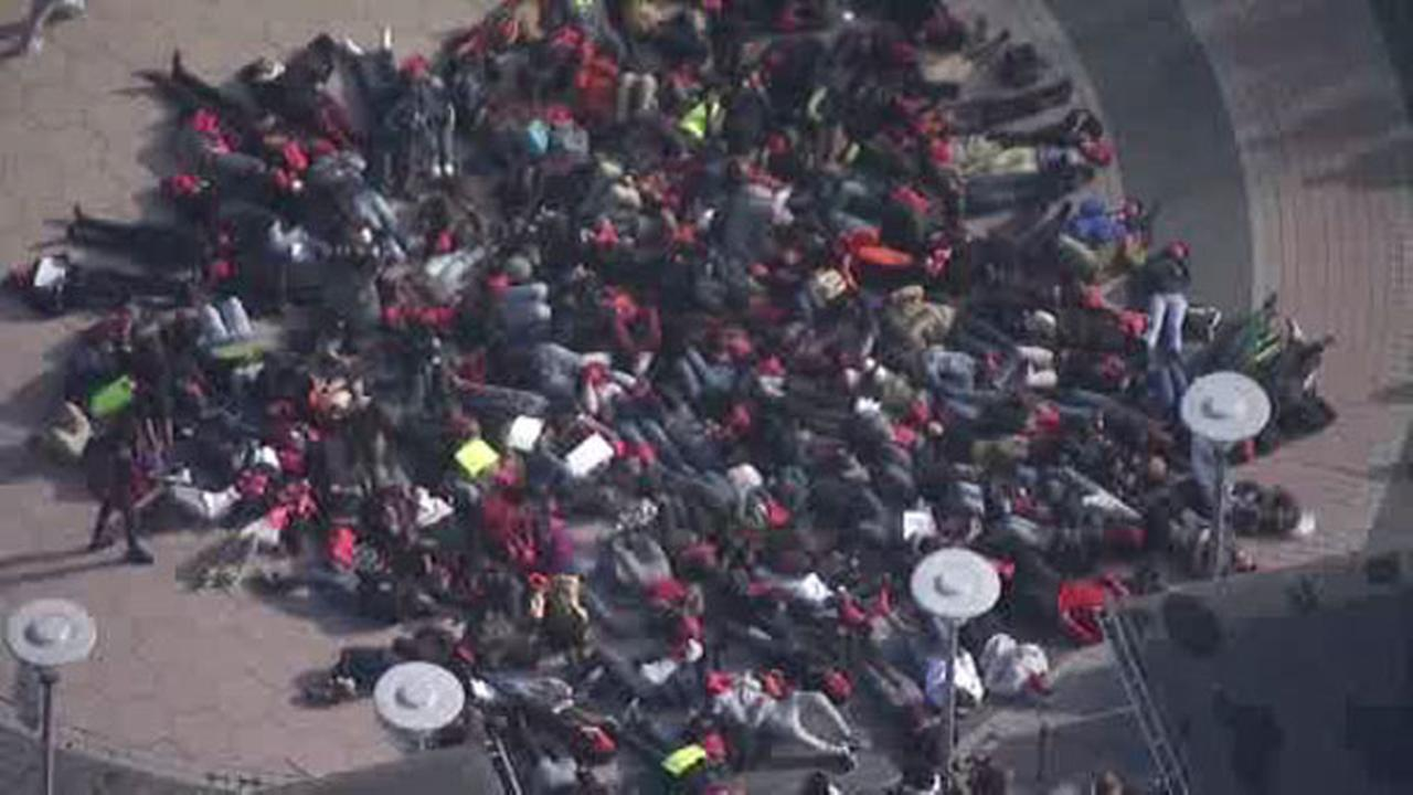 Temple University students stage 'die-in'