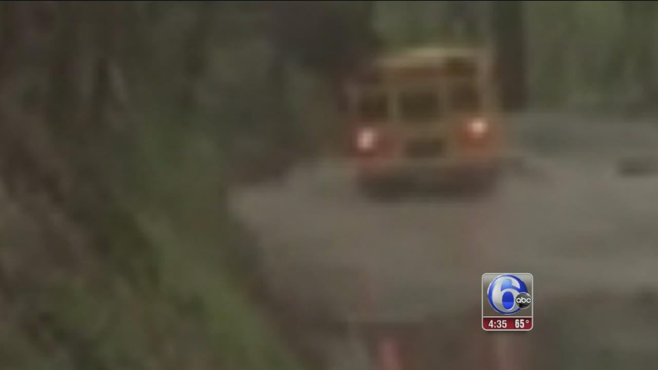 School bus driven through Chester Co. flood