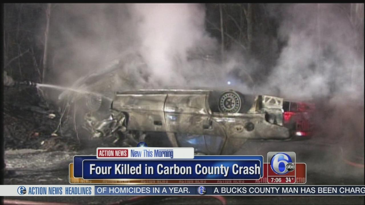 VIDEO: 4 killed in Poconos crash