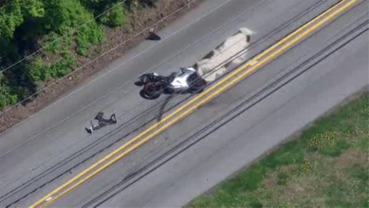 Motorcycle crash in Westtown Twp.