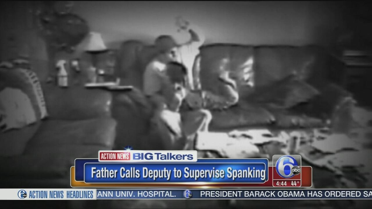 VIDEO: Father calls police to supervise spanking