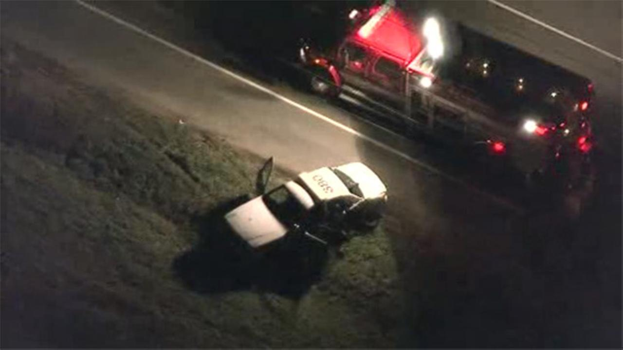 3 injured in state-trooper involved crash in NJ