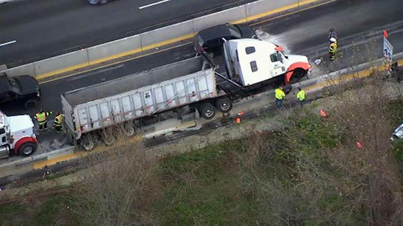 Pictures from crash, fuel spill on Route 202