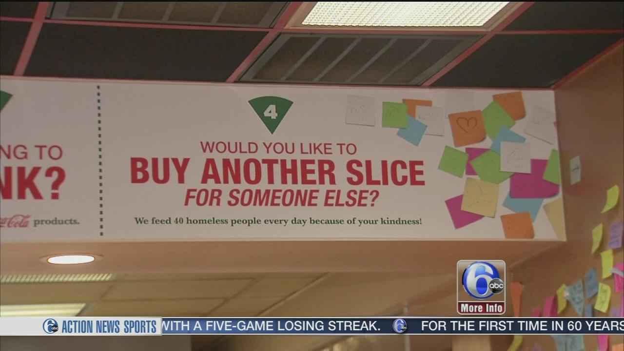 Customers pay it forward with pizza in Center City