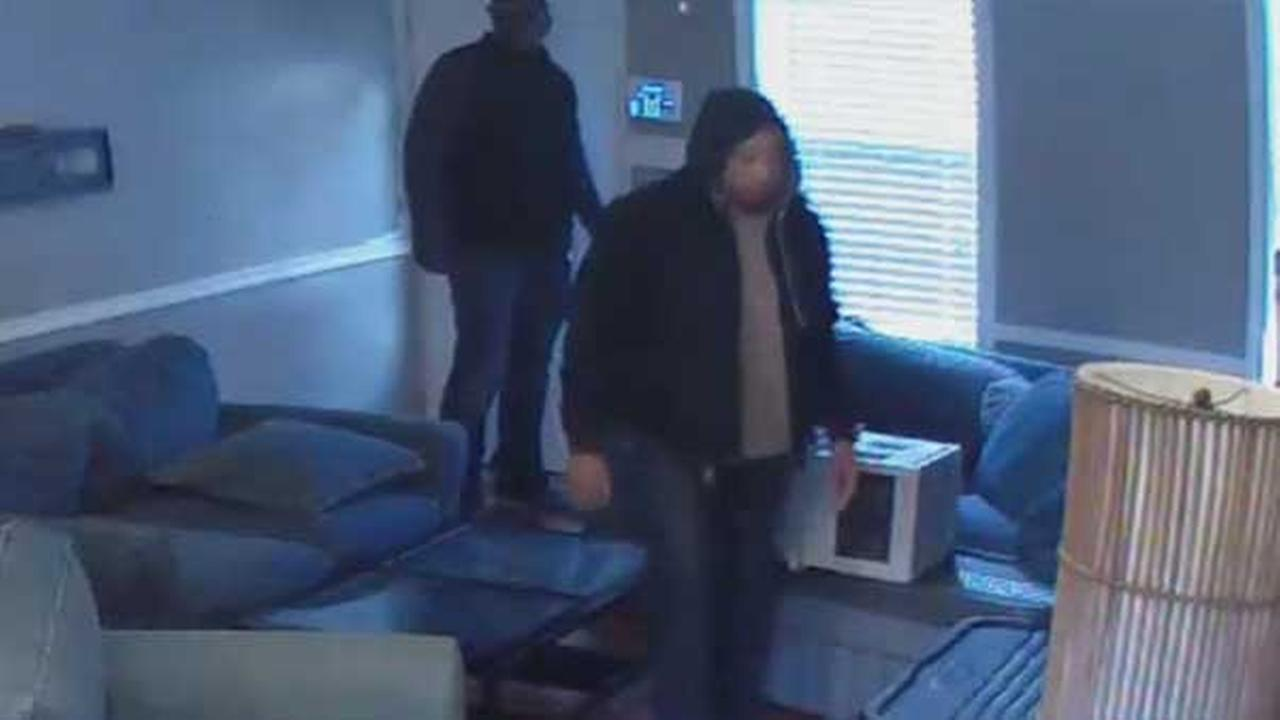 Philadelphia police are looking to identify two men who burglarized a home in the citys Point Breeze section.