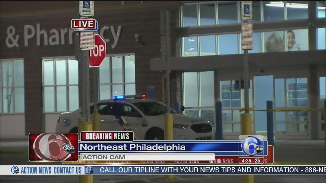 VIDEO: Man shot outside Walmart store in NE Philadelphia