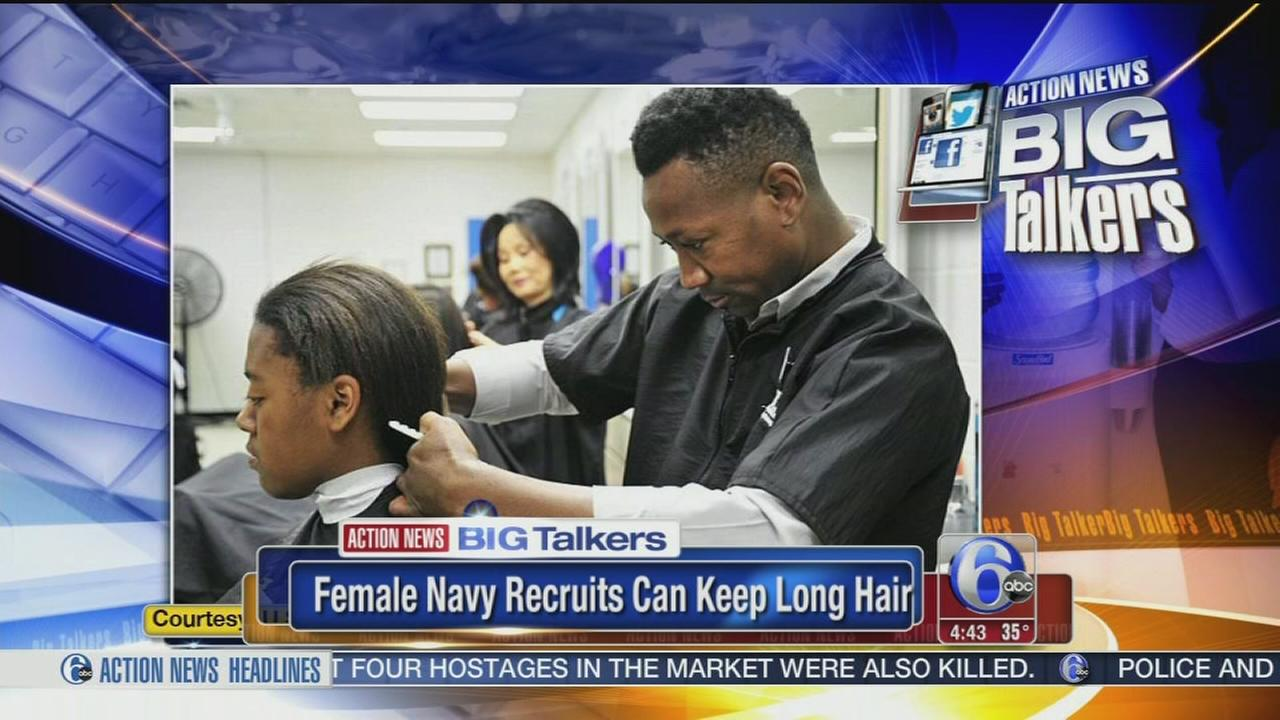 Navy Says Female Recruits Can Keep Long Hair 6abc