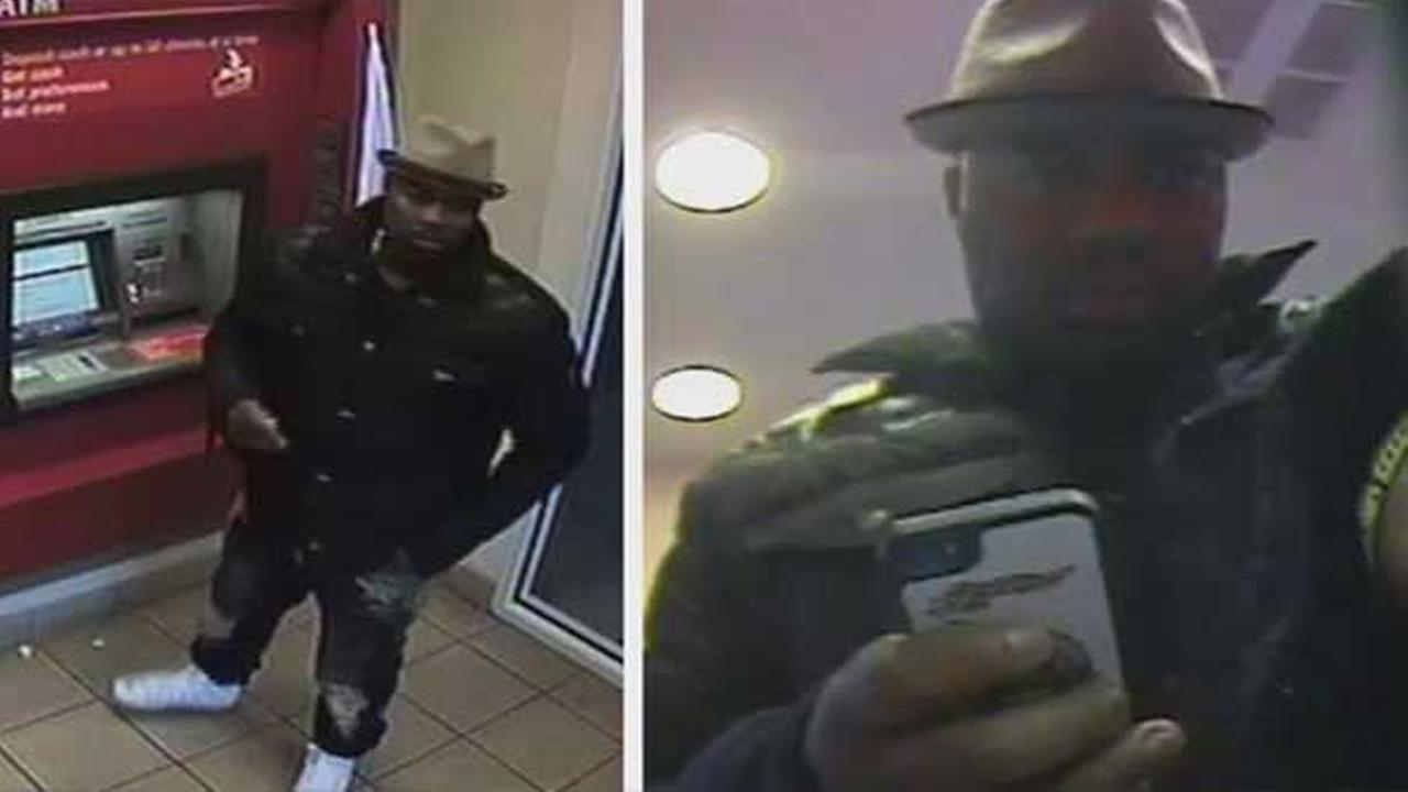 Philadelphia police are looking for a suspect who used a stolen credit card at an ATM in the citys Kenginston section.