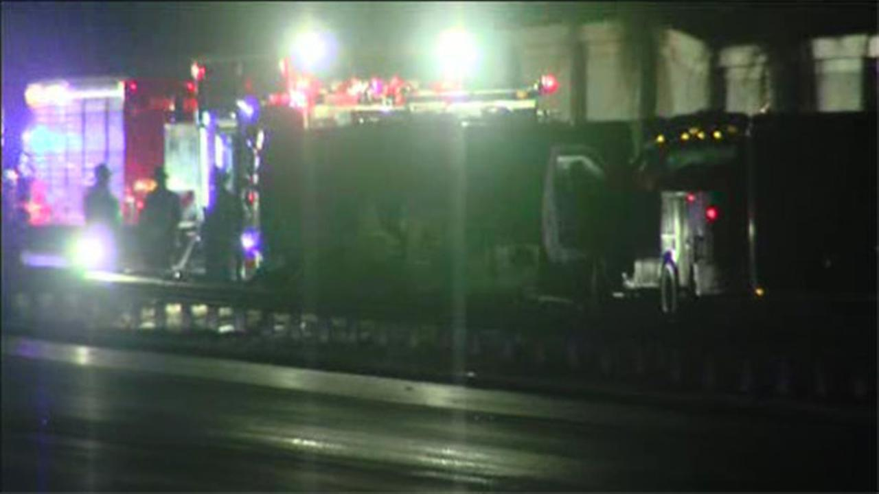Driver injured after oil truck crashes in Cherry Hill