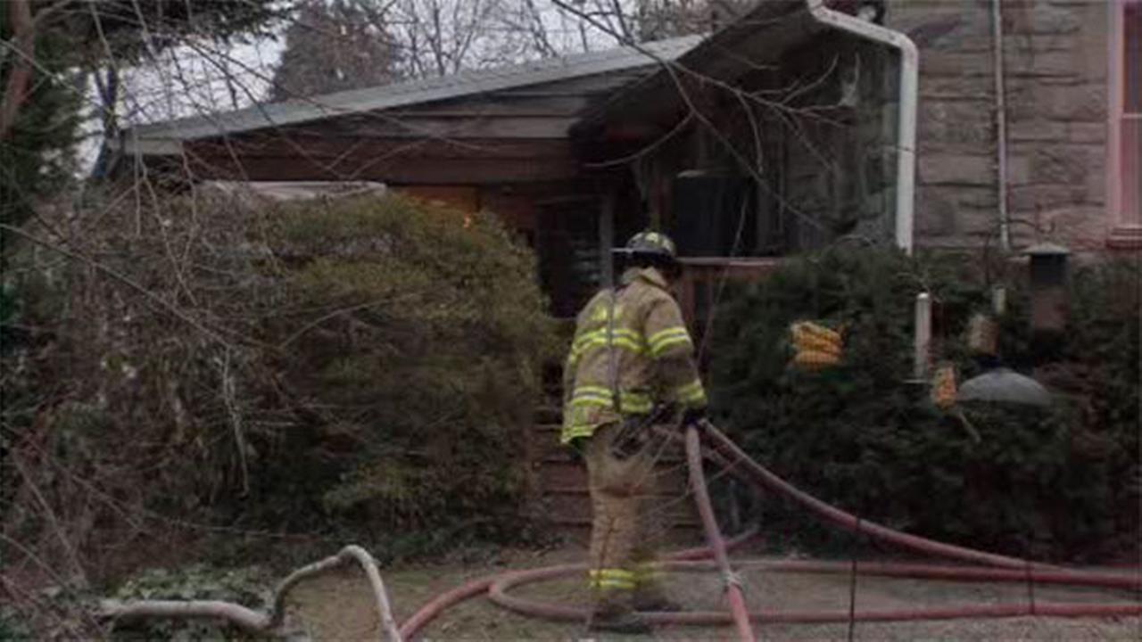 2-alarm house fire in Bala Cynwyd