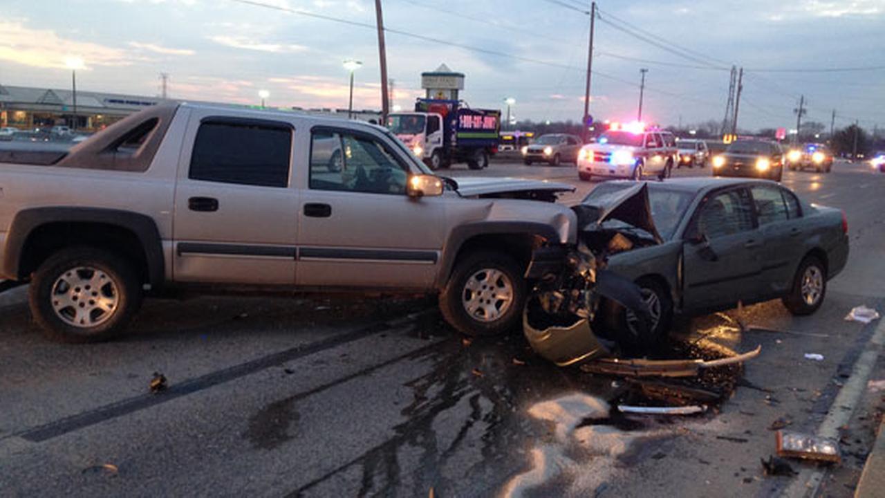 Truck, car crash head-on in Delaware