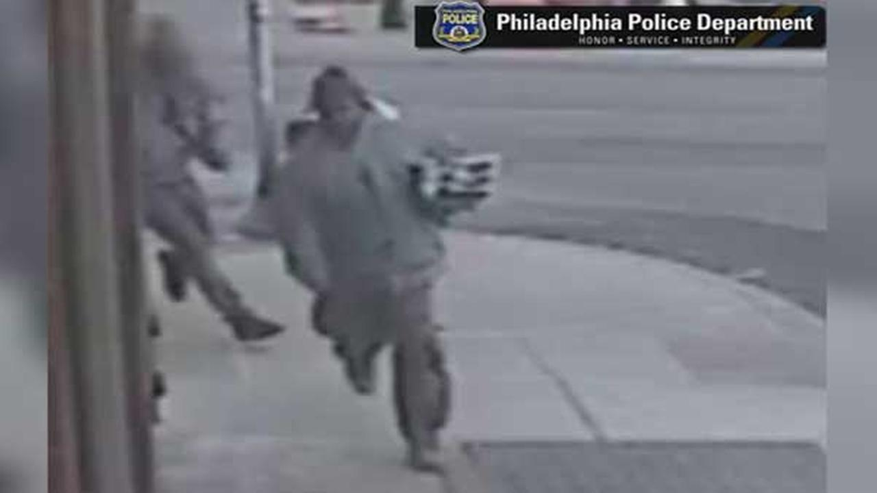 Police are searching for a suspect who threatened a store employee at gunpoint during a robbery in Southwest Philadelphia.