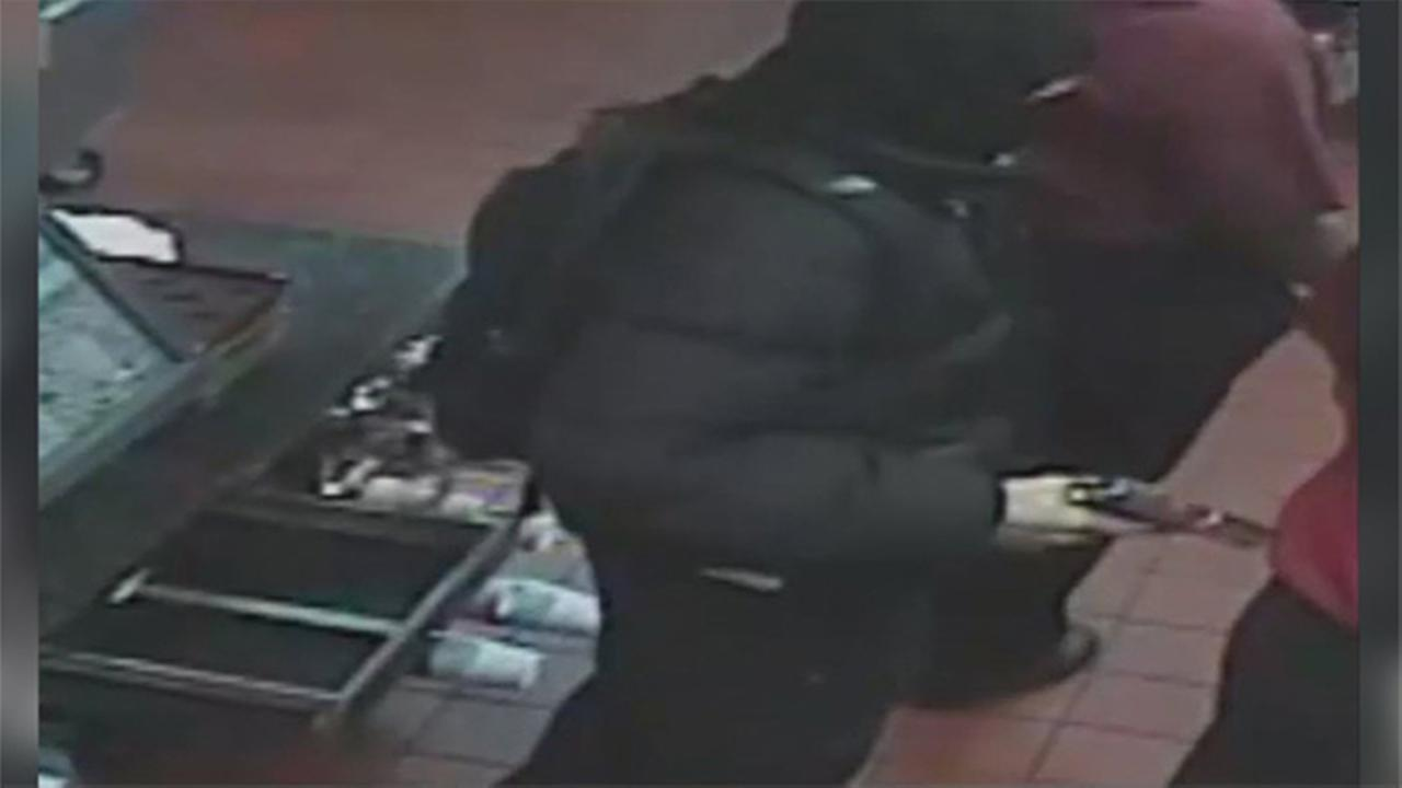 Philadelphia Police investigate a robbery at a McDonalds Restaurant in Rhawnhurst.