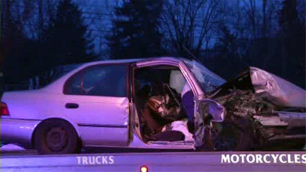 Snow plow, car collide in Haverford Township