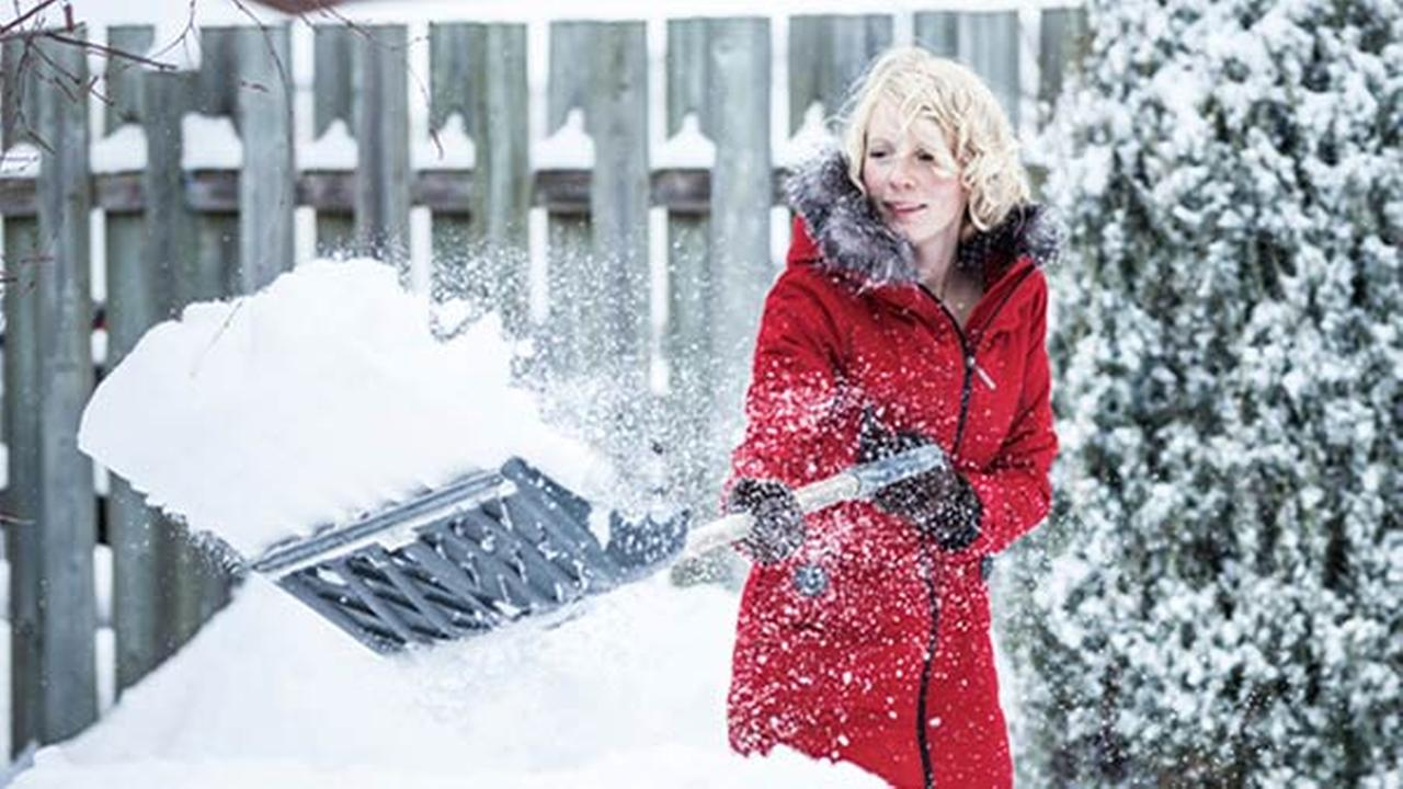 Don't risk a heart attack!  Here's how to safely shovel snow