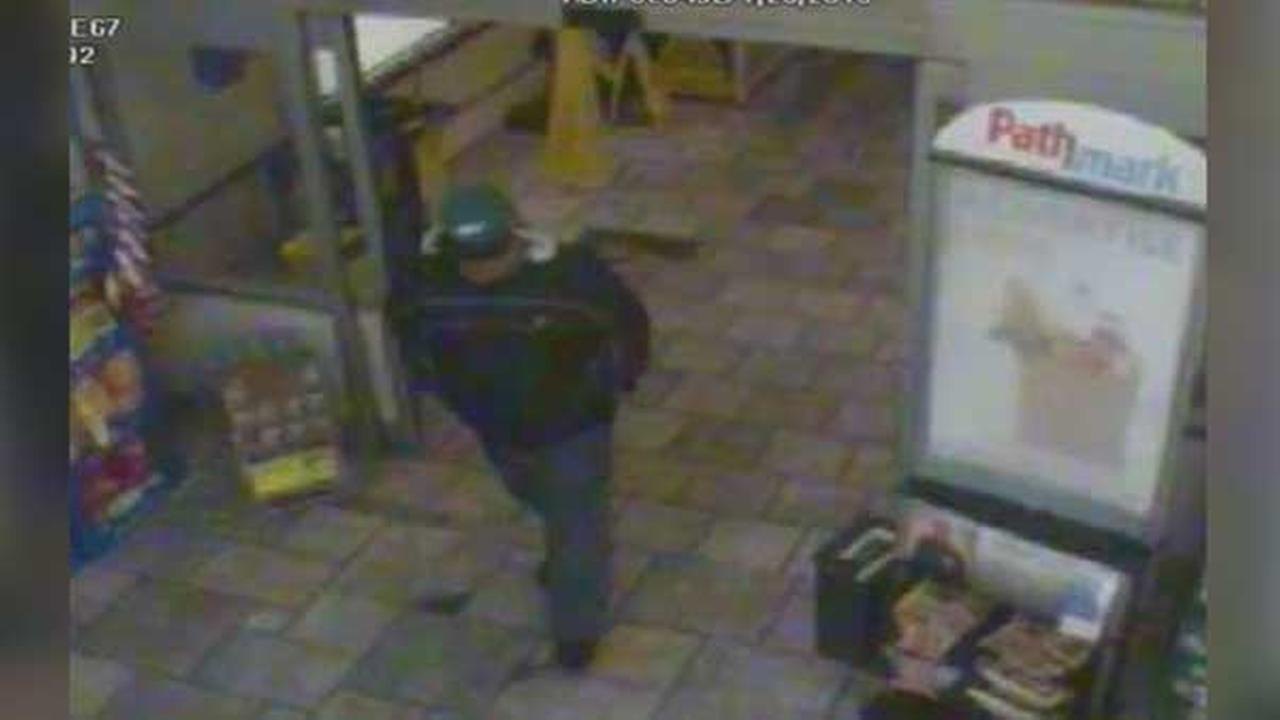 Philadelphia police are searching for an armed robber who targeted a supermarket pharmacy in the citys Kensington section.