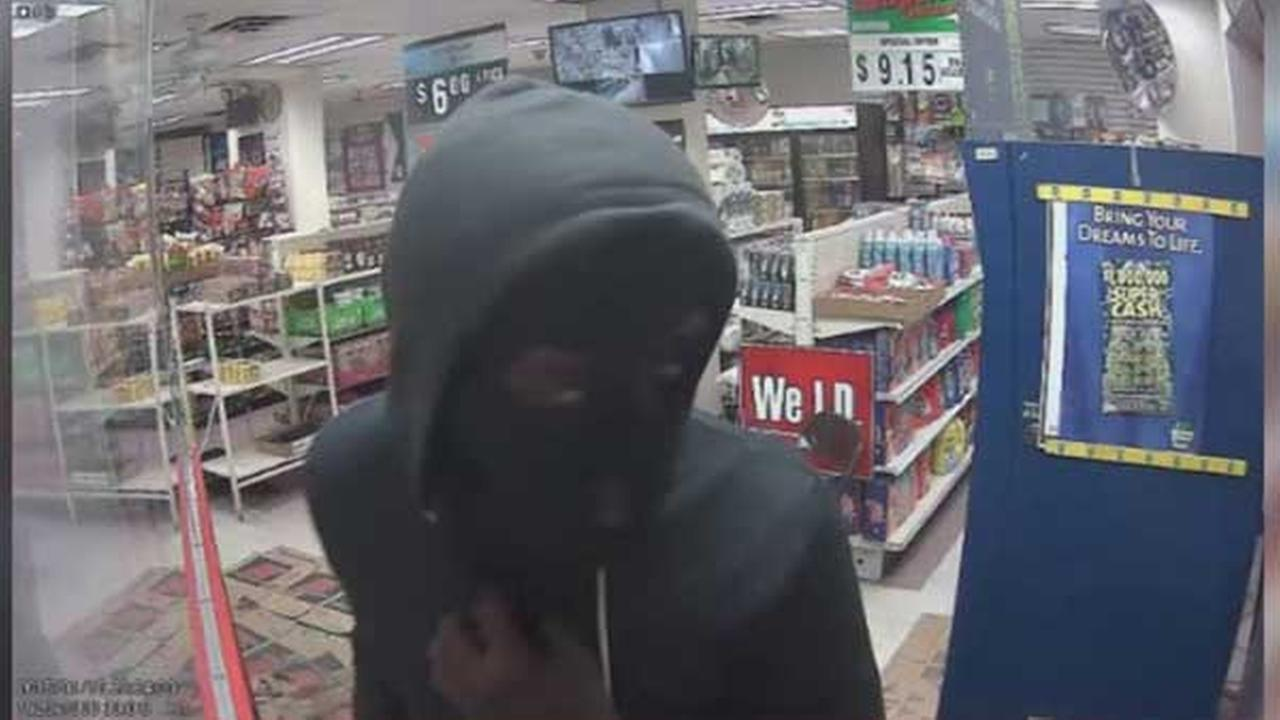 Police are searching for two suspects who tried to rob a deli at gunpoint in North Philadelphia.