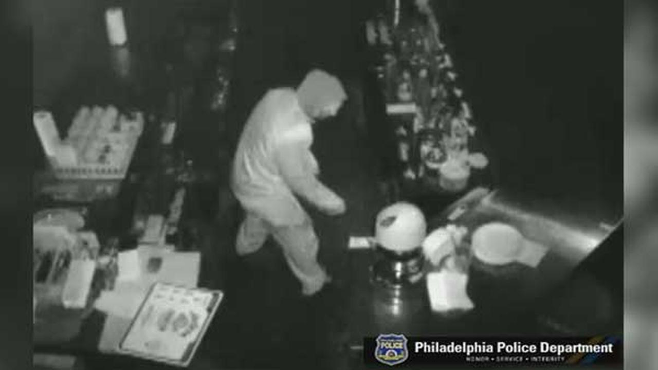 Police are searching for a burglar who broke into a BBQ restaurant in the citys Roxborough section on February 1.