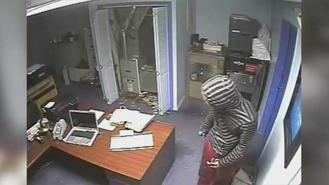 Philadelphia police are searching for a burglar who broke into a check cashing business in the citys Kensington section.
