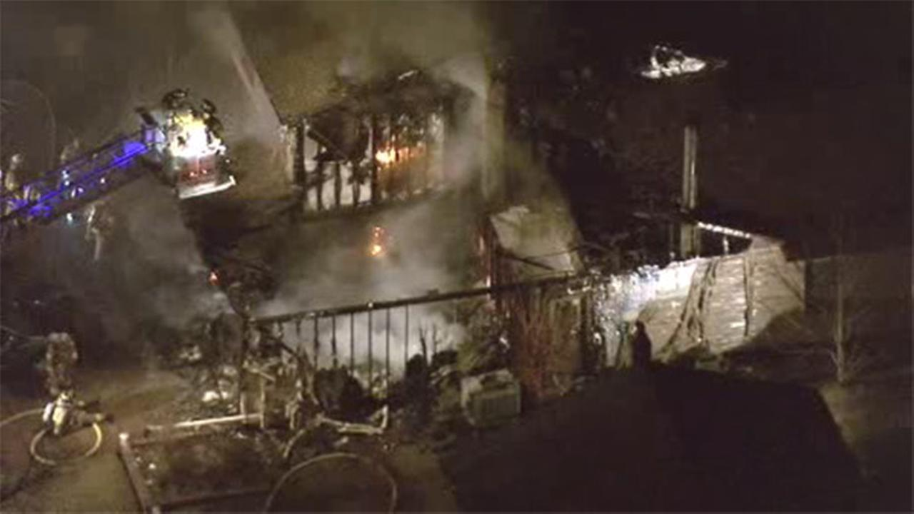Flames rip through home in Sewell, NJ