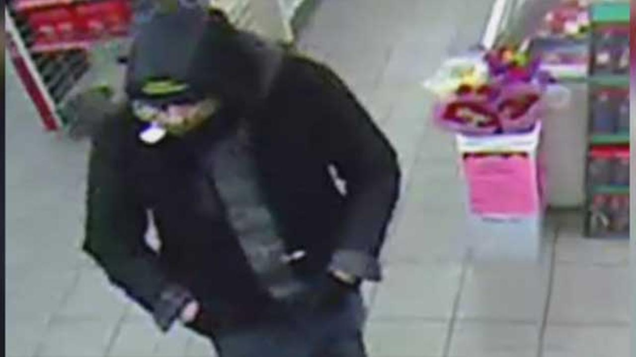 Police are on the hunt for a suspect who robbed a 7-Eleven in Northeast Philadelphia.