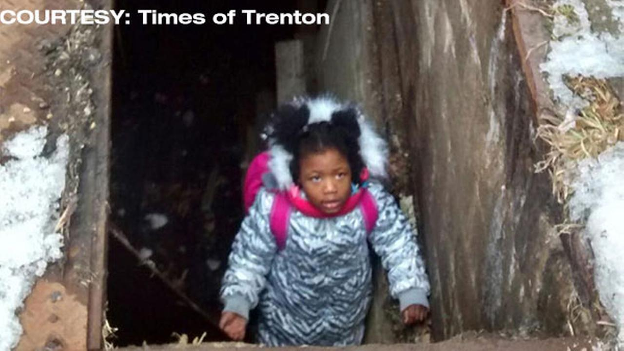 2 girls slip on ice, fall into uncovered basement in Trenton