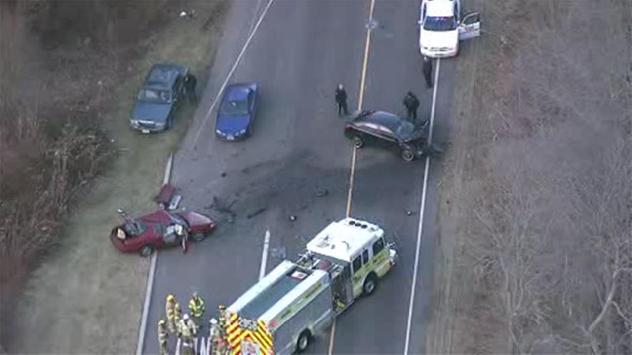 2 cars collide head-on in Monroe Twp.