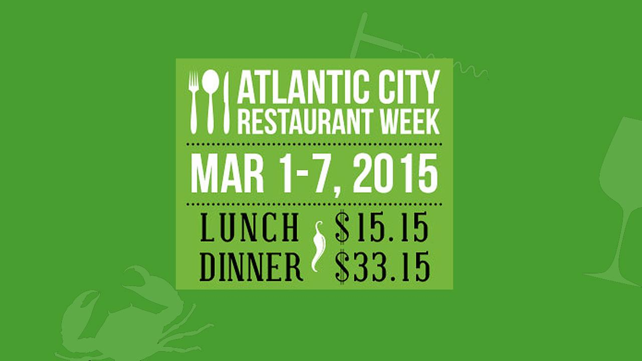 AC Restaurant Week is Sunday, March 1 through Saturday, March 7, 2015