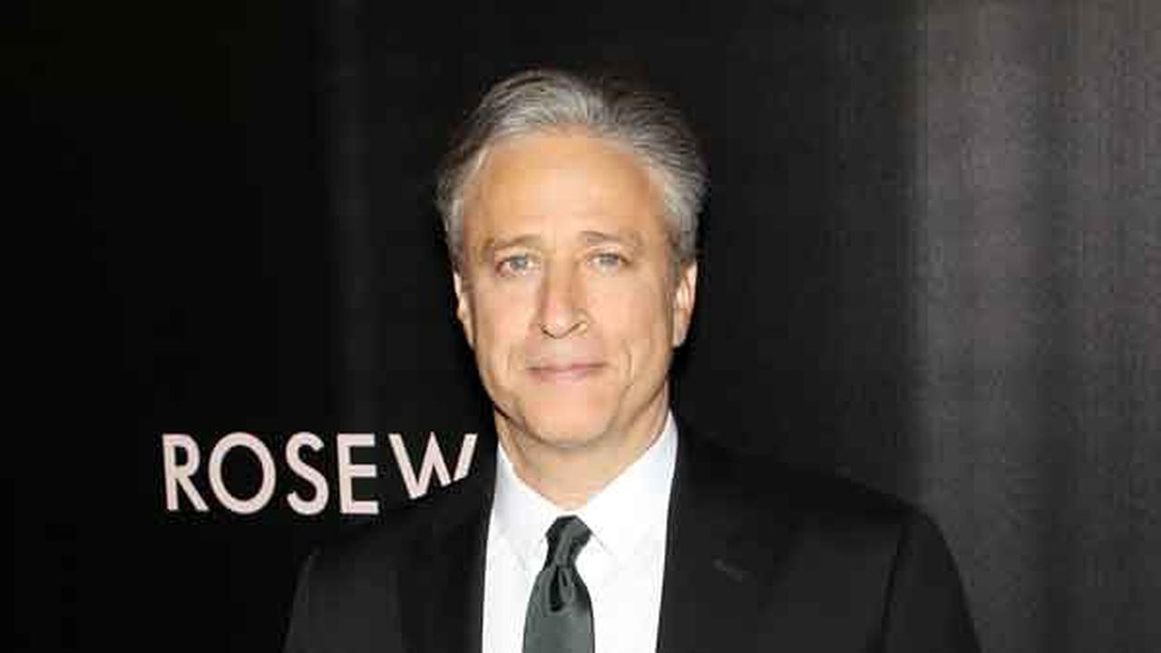 In this image released by Starpix, writer-director and producer Jon Stewart arrives at the premiere of his film, Rosewater on Wednesday, Nov. 12, 2014 in New York.