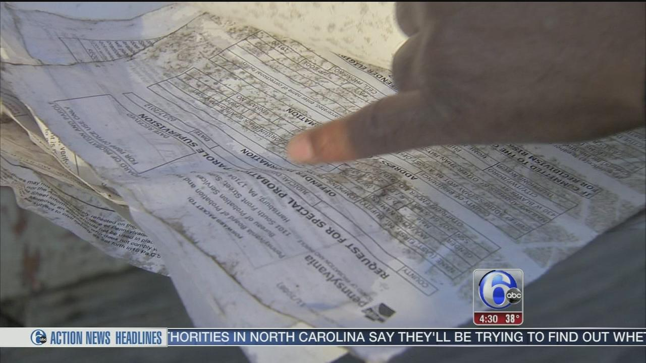 VIDEO: Private documents found scattered across Grays Ferry