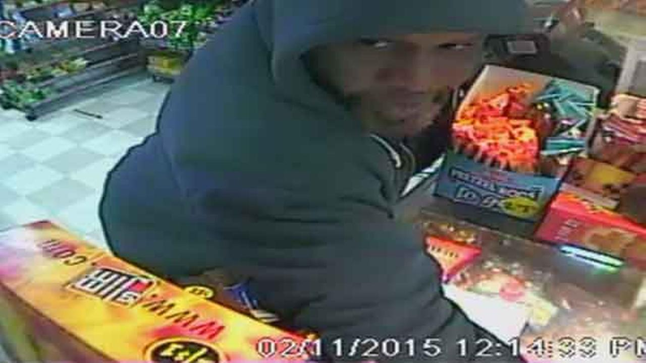 Philadelphia police say an armed robber took off with a womans car during a hold up at a grocery store in the citys Germantown section yesterday.