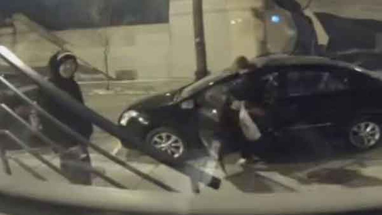 Philadelphia police are searching for two women who were caught on surveillance breaking into a parked car in the citys Fishtown section.