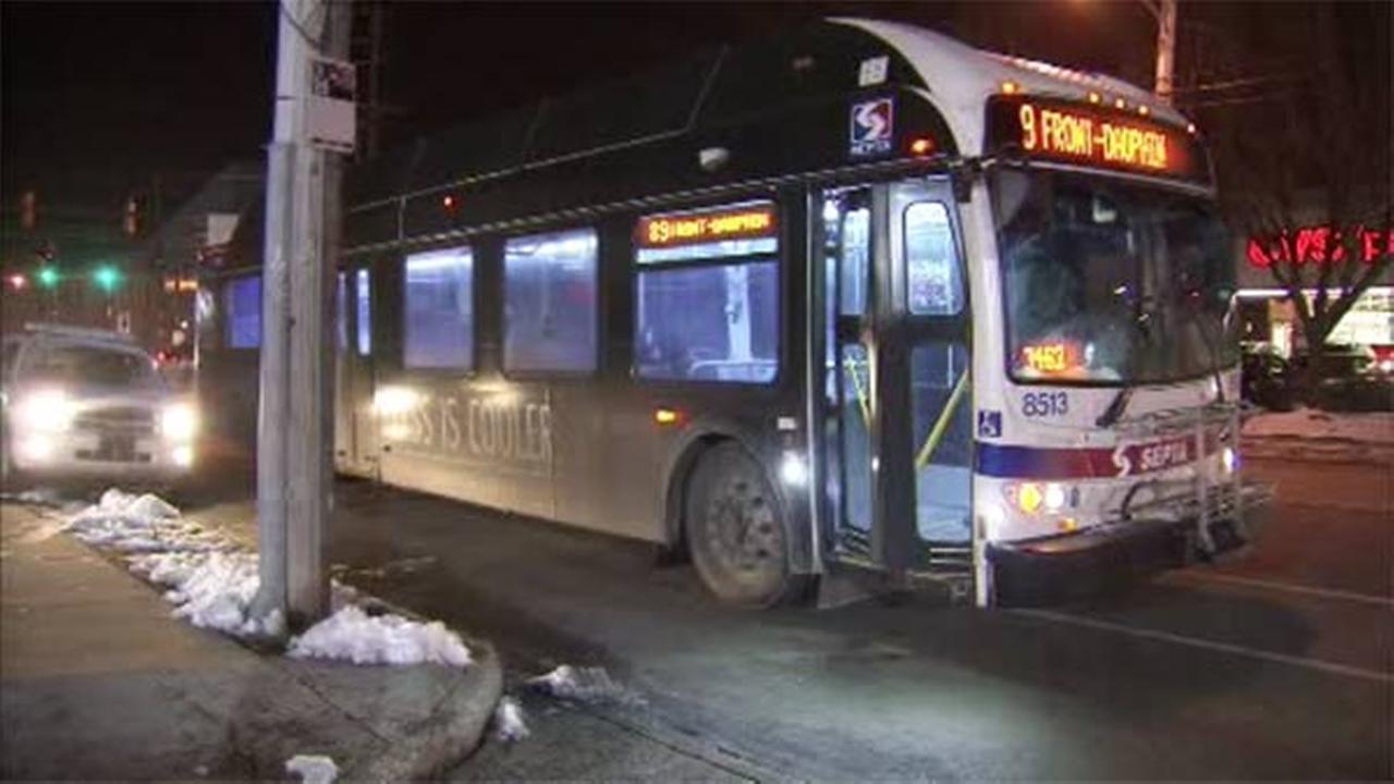 SEPTA bus and vehicle collide in Juniata Park