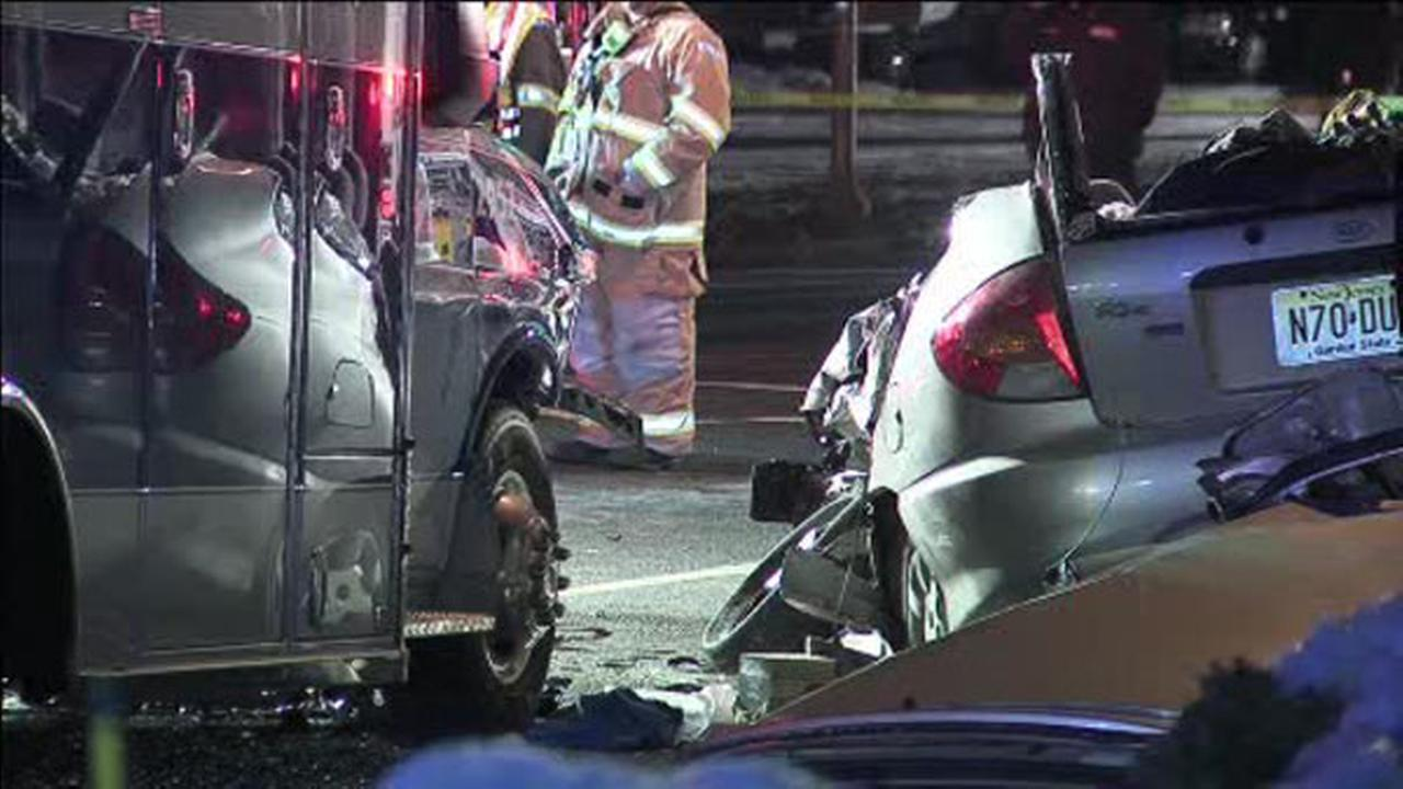 Driver of stolen car crashes into ambulance on highway, dies