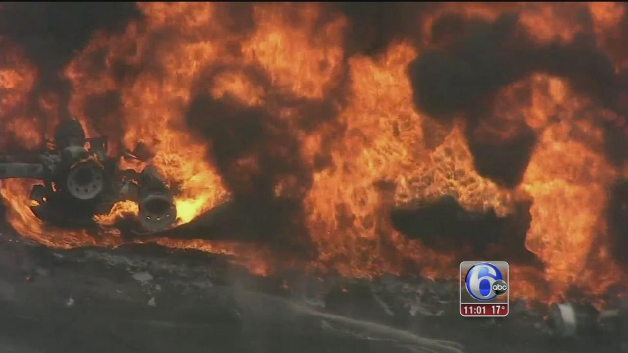 VIDEO: Tanker fire