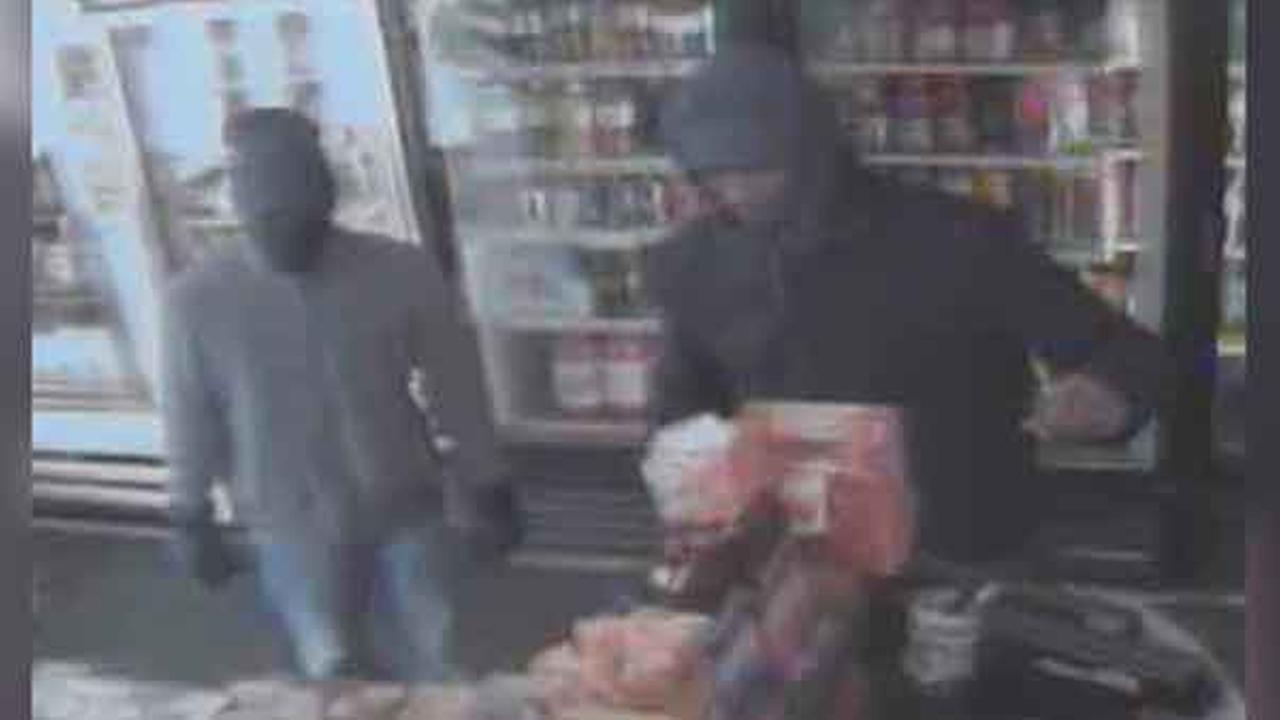 Police are looking for two men who robbed a grocery store in South Philadelphia Sunday night.