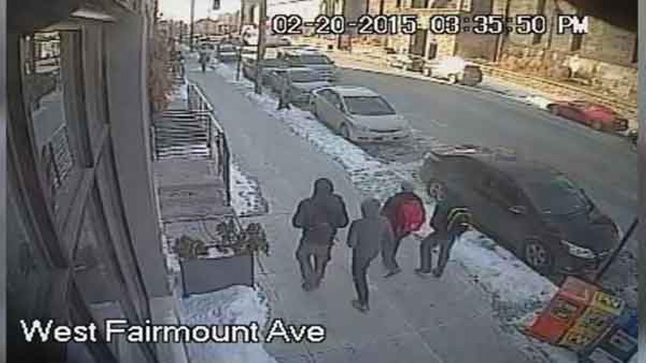 Philadelphia police are looking for 4 teenagers who attacked and robbed a 13-year-old boy in the citys Fairmount section.