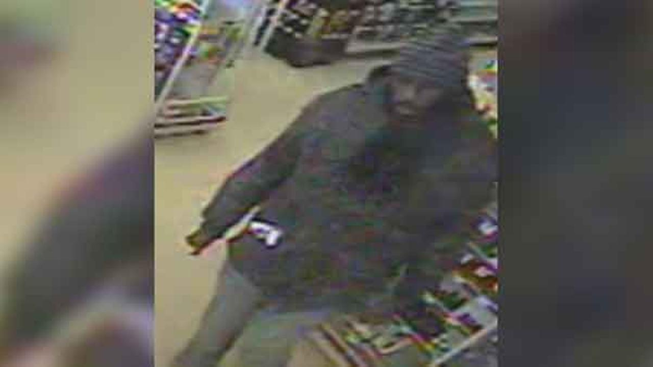 Philadelphia police are searching for a suspect who robbed a dollar store in the citys Germantown section Monday morning.