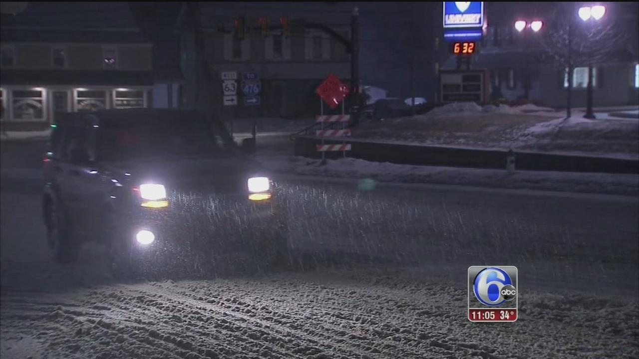 VIDEO: Wintry weather