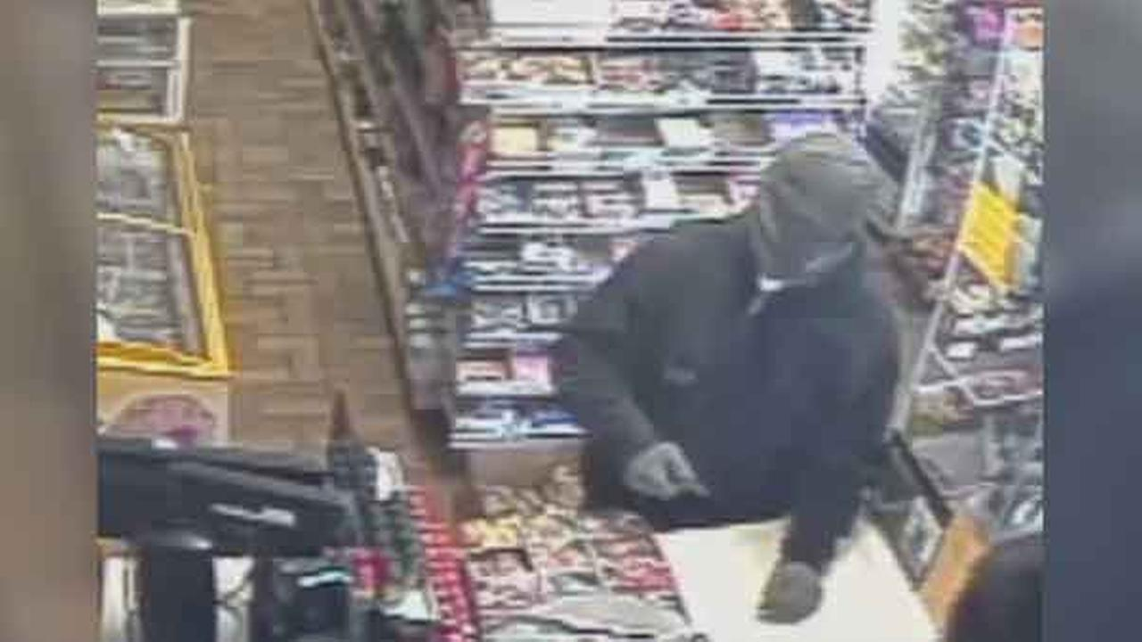 Police are looking for a suspect who robbed a grocery store at knife point in South Philadelphia.