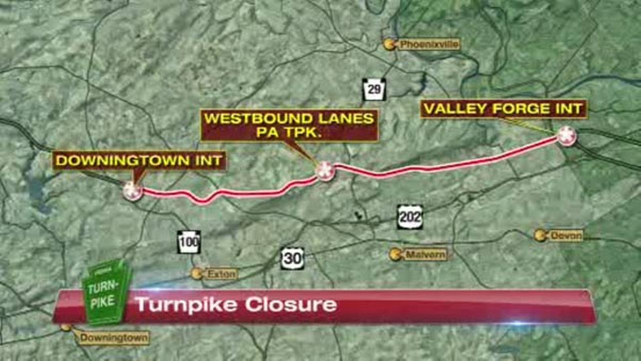 Pennsylvania Turnpike westbound reopens in Chester County