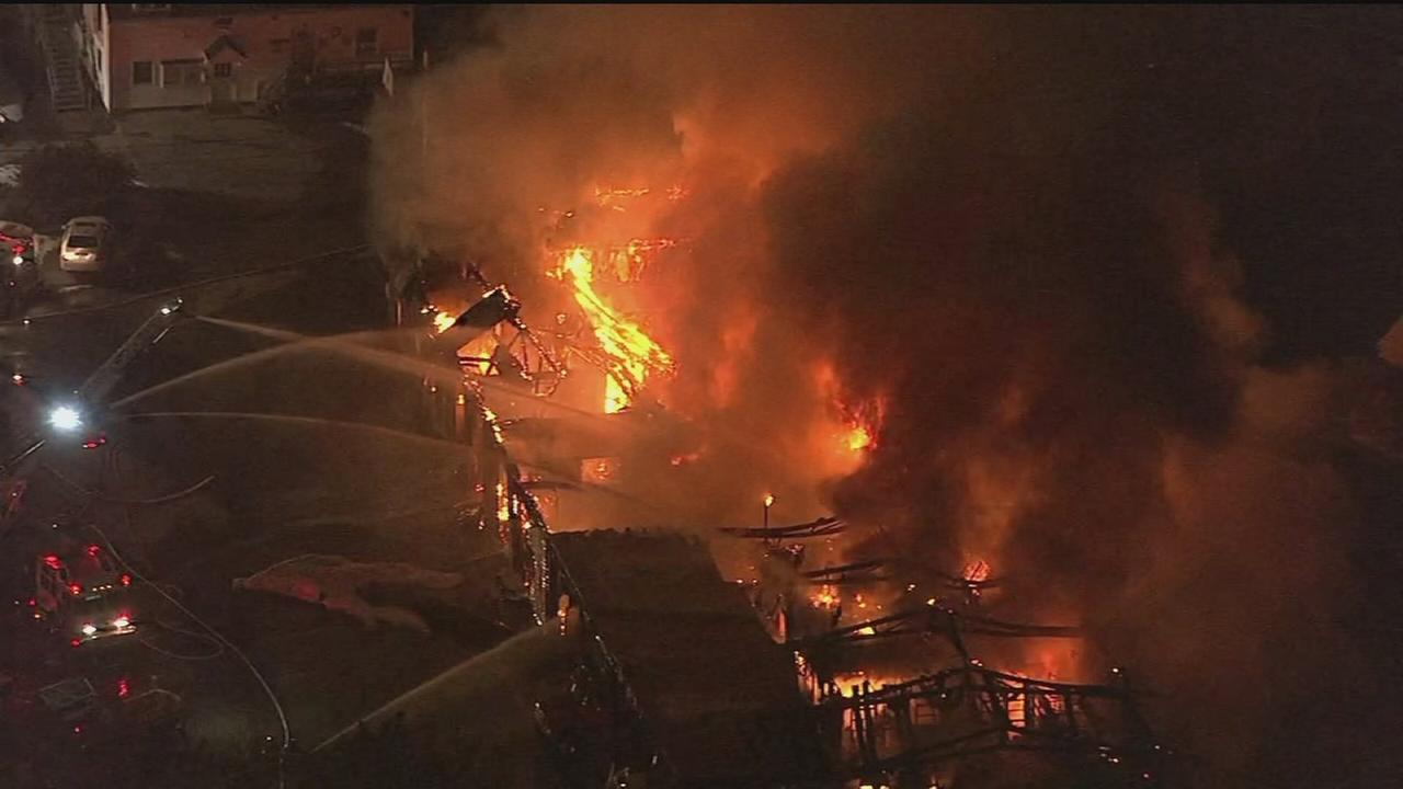 VIDEO: 3-alarm fire in Lower Providence Twp.