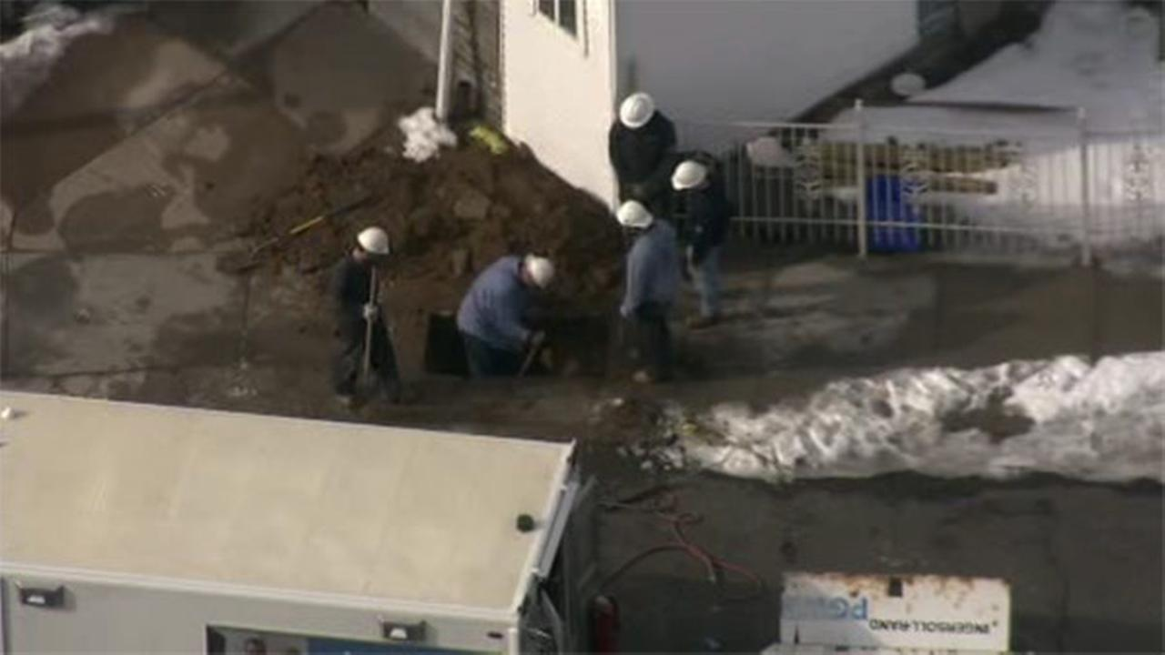 Gas main ruptures in Feltonville