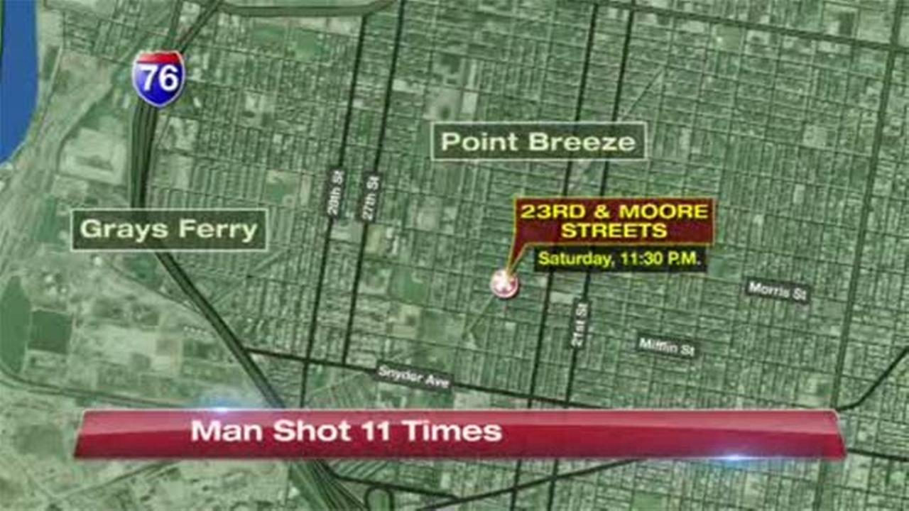 Man survives being shot 11 times in South Philadelphia