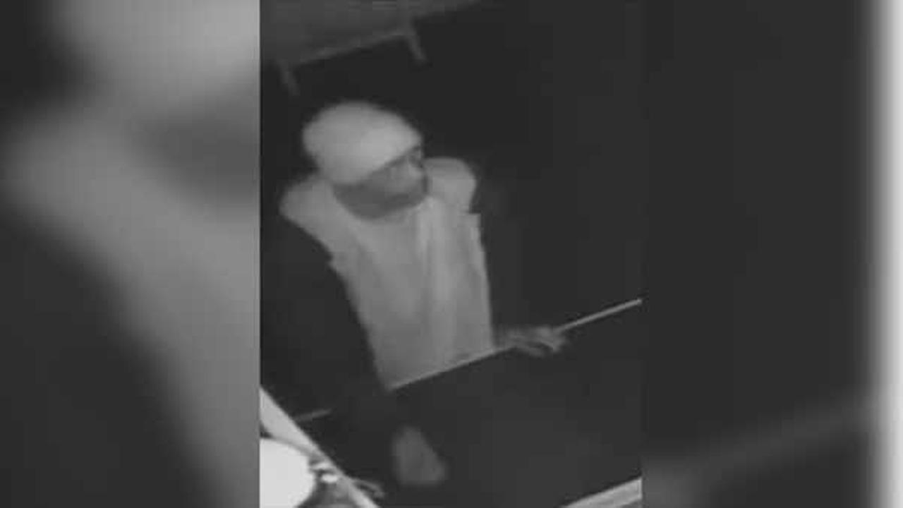 Philadelphia police are looking for a burglar who broke into a church in the citys Hunting Park section.