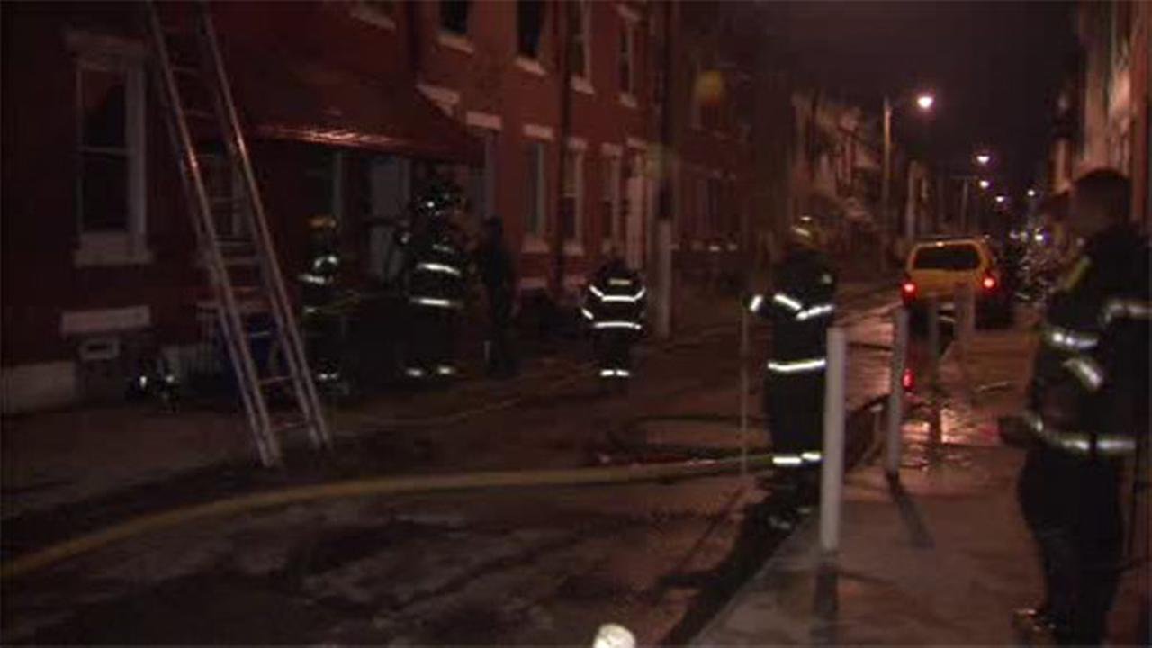 Heavy flames damage house in Strawberry Mansion
