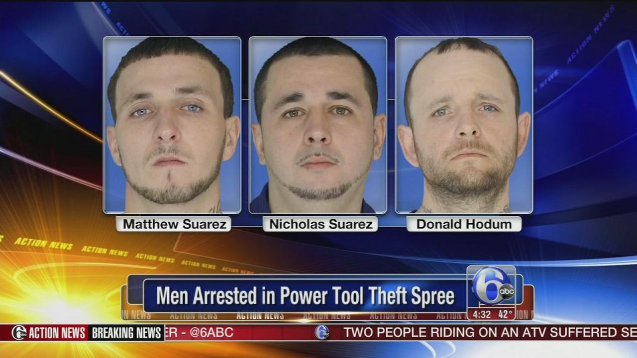 VIDEO: 3 men accused in power tool thefts