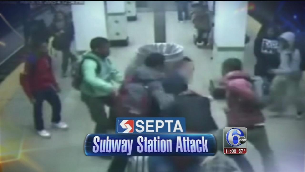VIDEO: Subway beating